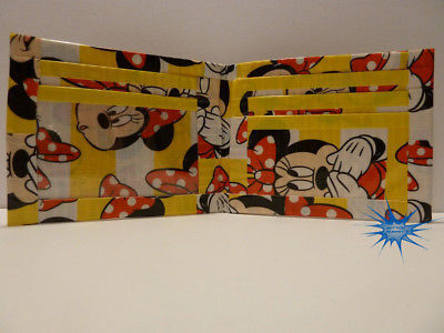 Handmade duct tape wallet With Minnie Mouse all over it (New Design)