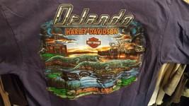 Harley Davidson Motorcycles Orlando Florida T-Shirt Large Blue Swamp Gat... - $14.25