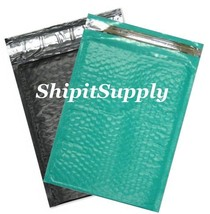 2-500 #0 6x10 Poly ( Black & Teal ) Color Bubble Padded Mailers Fast Shi... - $3.49+