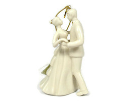 Lenox 2018  Annual Porcelain Bride and Groom Ornament  - $35.53