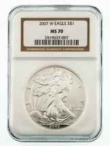 2007 Silber American Eagle 1 Oz. Münze Ausgewählten von NGC As MS-70 - $98.83
