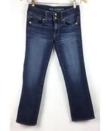 American Eagle Womens  2 Jeans Stretch Denim Artist Crop Dark Wash Capri... - $18.76