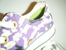 Converse All Star Tennis Shoes Mens 3 Womens 5 Ox Bunny Rabbit Purple Flocked image 4