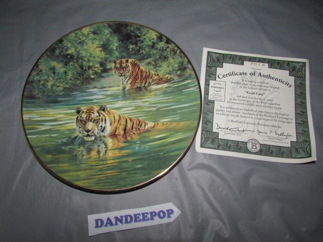 Cool Cats Collector Plate Donald Grant 1993 Third Issue Sovereigns Of The Wild