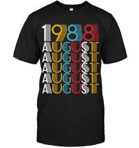 August 1988 Vintage Retro Men T-Shirt Black Cotton S-6XL - $15.82+