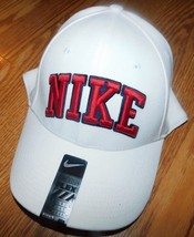 Nike Leg Block Swoosh White Hat One Size Brand New - $16.20