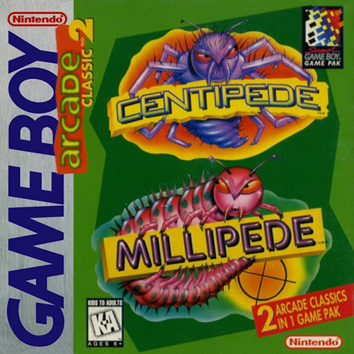 Arcade Classic 2 Centipede Millipede GB NINTENDO GameBoy Video Game
