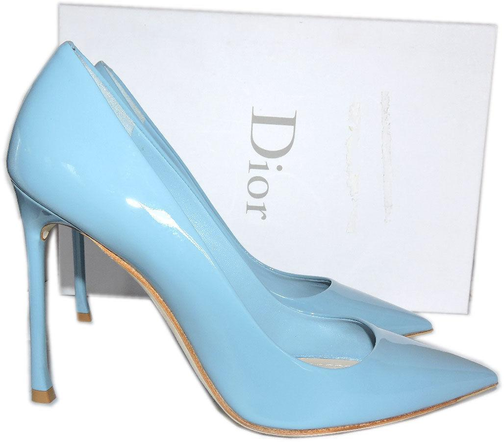 aac940f6ce30 Christian Dior Baby Blue Pointy Toe Pumps Dioressence Heels ESSENCE Shoes  36.5 -  299.00