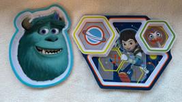 Disney Store Monsters Inc SULLY & MILES of Tomorrowland Melamine Kids Pl... - $17.99