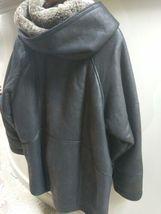 Walter Davoucci Women  Lambskin Leather Shearling Jacket Sz Medium Coat image 6