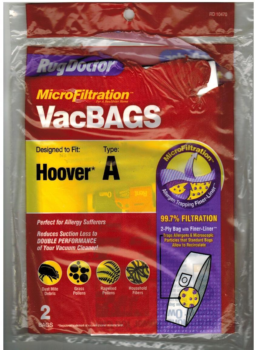 Primary image for 1 Vacuum Cleaner Bag Hoover Type A MicroFiltration by Rug Doctor RD10470