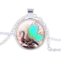 Friendly Dragon Cabachon Necklace For Kids Combined Shipping L@@K - $3.71