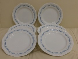 Rosenthal Classic Rose Collection Maria Blue Garland 6 Bread Plates - $45.00