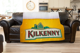 Kilkenny Beer Logo Fleece Blanket Ultra soft Gift  Cozy Comfort Blanket - $34.99+