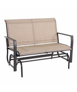 Outdoor Patio Loveseat Rocking Bench Furniture Swing Rocker Lounge Glide... - $89.99