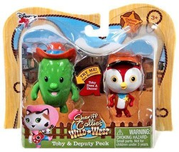 disney junior,toby,deputy peck,2 pack,cactus,chicken,kids,toy,creative - $12.29