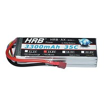 HRB 4S 14.8v 3300mAh 35C Lipo Battery Pack With T PLUG For RC Helicopter... - $50.05