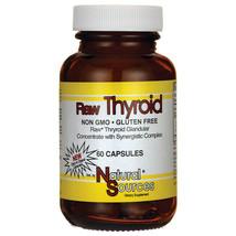 Natural Sources Raw Thyroid Glandular Health 60 Caps Vegetarian Organic Veggie - $39.06