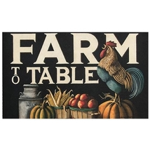 Farm to Table Decorative Door Floor Mat Farmhouse Kitchen  - $38.00