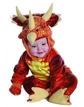 Underwraps Costumes Baby's Triceratops Costume Jumpsuit, Rust, Large 2T-4T - $31.11