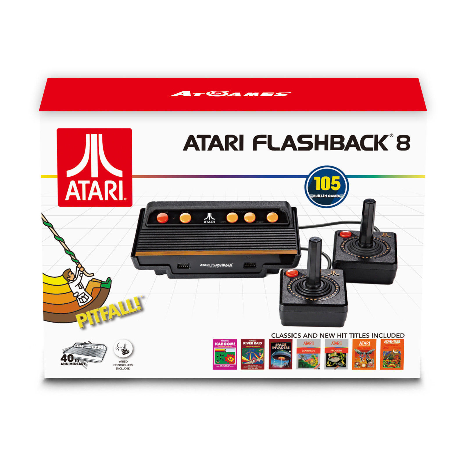 New atari flashback 8 classic game console 105 built in - Atari flashback classic game console game list ...
