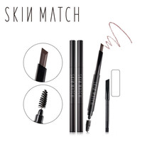SKIN MATCH® 2 In 1 Waterproof Auto Eyebrow Pencil + Eyebrow Brushes Tools - $12.78