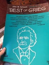 John Schaum Best of Grieg for Piano Solo 1971 Sheet Music Book Marches C... - $11.39