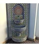 mosaic fountain .fountain length:130cm.fountain width:80cm.fountain traditional - $7,000.00