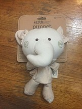 NEW! Earth Play Elephant Puppet Rattle Plush Discovery Toys Organic Cotton - $23.33