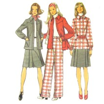 1970s Vintage Simplicity Sewing Pattern 5455 Misses Shirt Jacket Skirt P... - $6.95