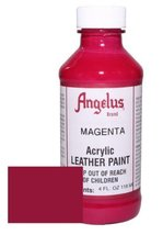 Angelus Acrylic Leather Paint-4oz.-Magenta - $17.04