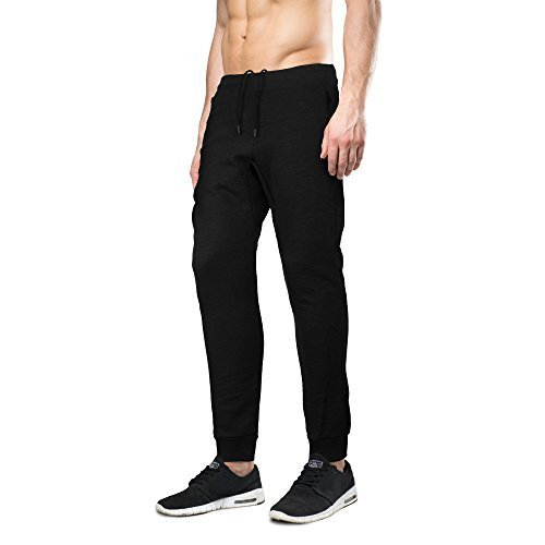 Indigo people Men's Limited Edition Slim Fit Jogger Sweat Pants (Small, Black)
