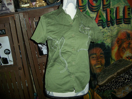 VANS Olive Green 1966 Button Up Shirt Size S - $13.86