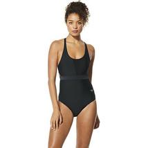 Speedo Womens Swimsuit One Piece Double Strap Precision, Speedo Black, 10 - $47.11