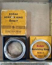 Kodak Series V (5)  Adapter Ring + Retaining Ring vintage in box e71 - $9.74