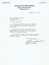 TYPED LETTER SIGNED re Hanlon Drugs by New York CONGRESSMAN J. ERNEST WH... - $9.90