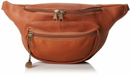 David King Colombian Leather Waist Fanny Pack Cognac - $39.55