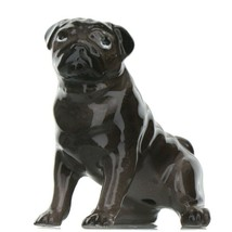 Hagen Renaker Dog Pug Mama Black Ceramic Figurine