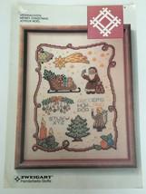 Zweigart Weihnachten Merry Christmas Joyeux Noel Counted Cross Stitch Pattern - $6.30