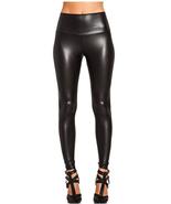 Red, Khaki, Black Leggings Punk Full Length Leather-like High Waisted Ma... - $14.99