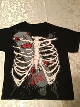Boys - Size 8 - Small-Hawk shirt-Skeleton chest bones - black - $10.50