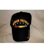 Acrylic Vietnam Veteran Ball Cap with the Ribbon and 5 Stars - $11.99