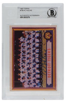 Al Kaline Signed 1957 Topps #198 Detroit Tigers Team Baseball Card BGS - $138.59