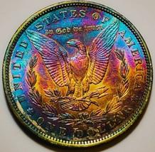 1897 O UNC  MORGAN SILVER DOLLAR  RAINBOW  TONING, VERY TOUGH IN MS * 493 - $220.50