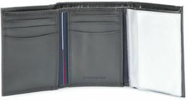 Tommy Hilfiger Men's Premium Leather Credit Card Id Wallet Trifold Black 5676-1 image 4
