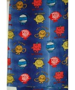 Mr Men Gradient Fleece Fabric Two Yards Hundred Percent Polyester Blue Red - $31.98