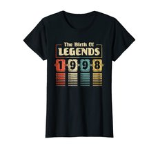 Funny Shirts - Retro The Birth Of Legend 1998 20th Birthday Gift 20 yrs old Wowe image 3