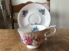 Royal Standard Teacup & Saucer Vintage China Floral Pretty - $5.18