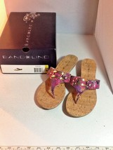 Womens Bandolino Summer Wedge Sandals Size 8.5 M Multi-Colored Snakeskin Pattern - $21.99