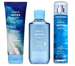 Bath & Body Works Under Water Oasis Fragrance Set - Shea Cream, Mist, Shower Gel - $28.99